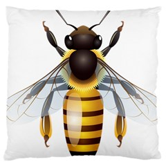 Bee Large Cushion Case (two Sides) by BangZart