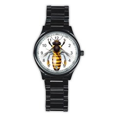 Bee Stainless Steel Round Watch