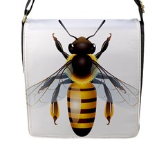 Bee Flap Messenger Bag (l)