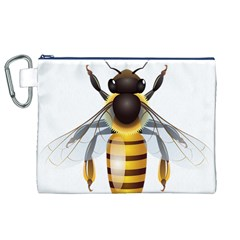 Bee Canvas Cosmetic Bag (xl)