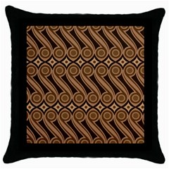 Batik The Traditional Fabric Throw Pillow Case (black)