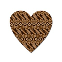 Batik The Traditional Fabric Heart Magnet by BangZart