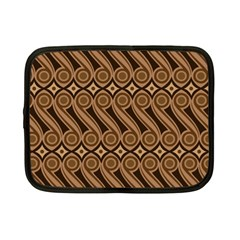 Batik The Traditional Fabric Netbook Case (small)  by BangZart