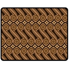 Batik The Traditional Fabric Fleece Blanket (medium)