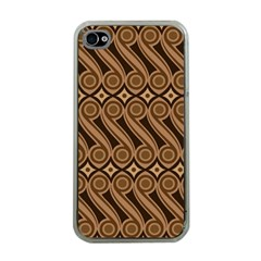 Batik The Traditional Fabric Apple Iphone 4 Case (clear) by BangZart