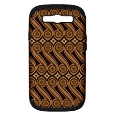 Batik The Traditional Fabric Samsung Galaxy S Iii Hardshell Case (pc+silicone) by BangZart