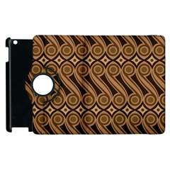 Batik The Traditional Fabric Apple Ipad 3/4 Flip 360 Case by BangZart
