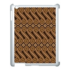 Batik The Traditional Fabric Apple Ipad 3/4 Case (white) by BangZart