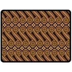 Batik The Traditional Fabric Double Sided Fleece Blanket (large)  by BangZart