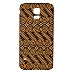 Batik The Traditional Fabric Samsung Galaxy S5 Back Case (white)
