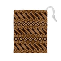 Batik The Traditional Fabric Drawstring Pouches (large)