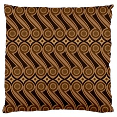 Batik The Traditional Fabric Large Flano Cushion Case (two Sides) by BangZart