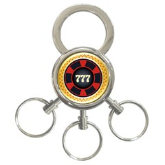 Casino Chip Clip Art 3 Ring Key Chains