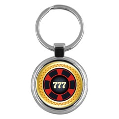 Casino Chip Clip Art Key Chains (round)  by BangZart