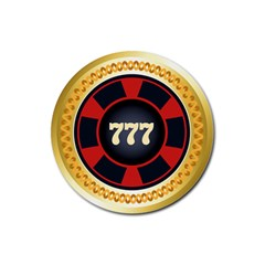Casino Chip Clip Art Rubber Round Coaster (4 Pack)  by BangZart