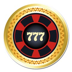 Casino Chip Clip Art Magnet 5  (round) by BangZart