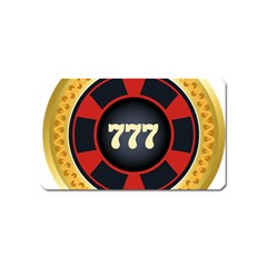 Casino Chip Clip Art Magnet (name Card)