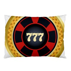 Casino Chip Clip Art Pillow Case by BangZart