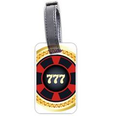 Casino Chip Clip Art Luggage Tags (one Side)