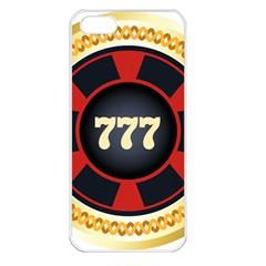 Casino Chip Clip Art Apple Iphone 5 Seamless Case (white)