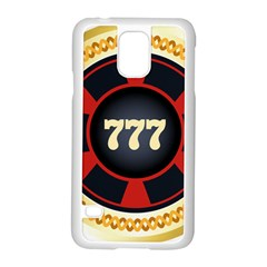 Casino Chip Clip Art Samsung Galaxy S5 Case (white) by BangZart