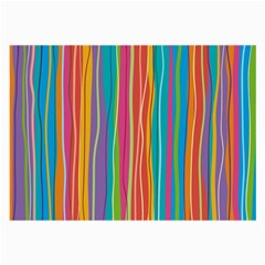 Colorful Striped Background Large Glasses Cloth by TastefulDesigns