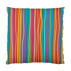 Colorful Striped Background Standard Cushion Case (two Sides) by TastefulDesigns