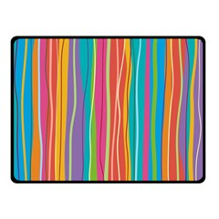 Colorful Striped Background Fleece Blanket (small) by TastefulDesigns