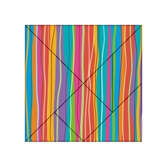 Colorful Striped Background Acrylic Tangram Puzzle (4  X 4 )