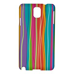 Colorful Striped Background Samsung Galaxy Note 3 N9005 Hardshell Case by TastefulDesigns