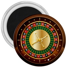 Casino Roulette Clipart 3  Magnets by BangZart