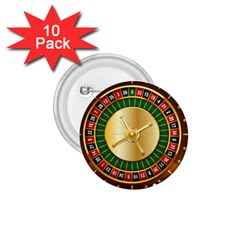 Casino Roulette Clipart 1 75  Buttons (10 Pack) by BangZart