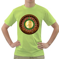 Casino Roulette Clipart Green T Shirt