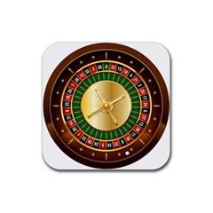 Casino Roulette Clipart Rubber Square Coaster (4 Pack)  by BangZart