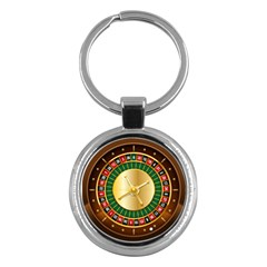 Casino Roulette Clipart Key Chains (round)