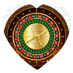 Casino Roulette Clipart Jigsaw Puzzle (heart) by BangZart