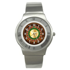 Casino Roulette Clipart Stainless Steel Watch