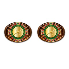 Casino Roulette Clipart Cufflinks (oval)