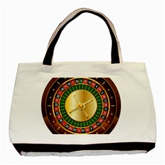 Casino Roulette Clipart Basic Tote Bag by BangZart