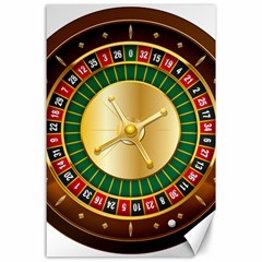 Casino Roulette Clipart Canvas 24  X 36  by BangZart