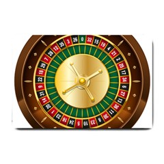 Casino Roulette Clipart Small Doormat  by BangZart