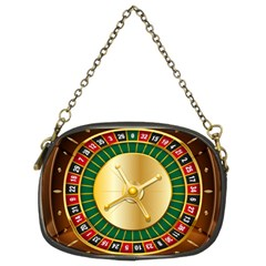 Casino Roulette Clipart Chain Purses (two Sides)