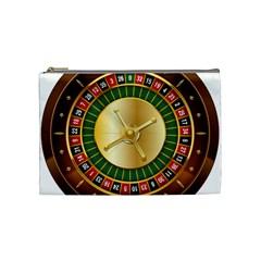 Casino Roulette Clipart Cosmetic Bag (medium)