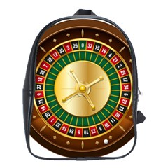 Casino Roulette Clipart School Bags(large)