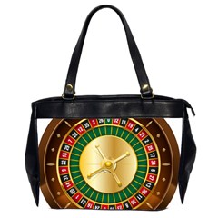 Casino Roulette Clipart Office Handbags (2 Sides)  by BangZart