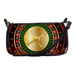 Casino Roulette Clipart Shoulder Clutch Bags