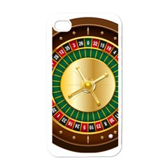 Casino Roulette Clipart Apple Iphone 4 Case (white)