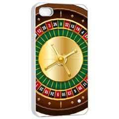 Casino Roulette Clipart Apple Iphone 4/4s Seamless Case (white) by BangZart