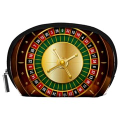 Casino Roulette Clipart Accessory Pouches (large)  by BangZart