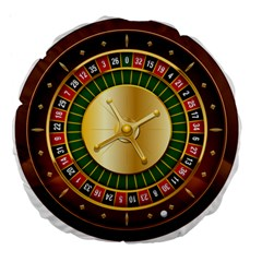 Casino Roulette Clipart Large 18  Premium Flano Round Cushions by BangZart